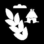Bauernhaus mit Ähre